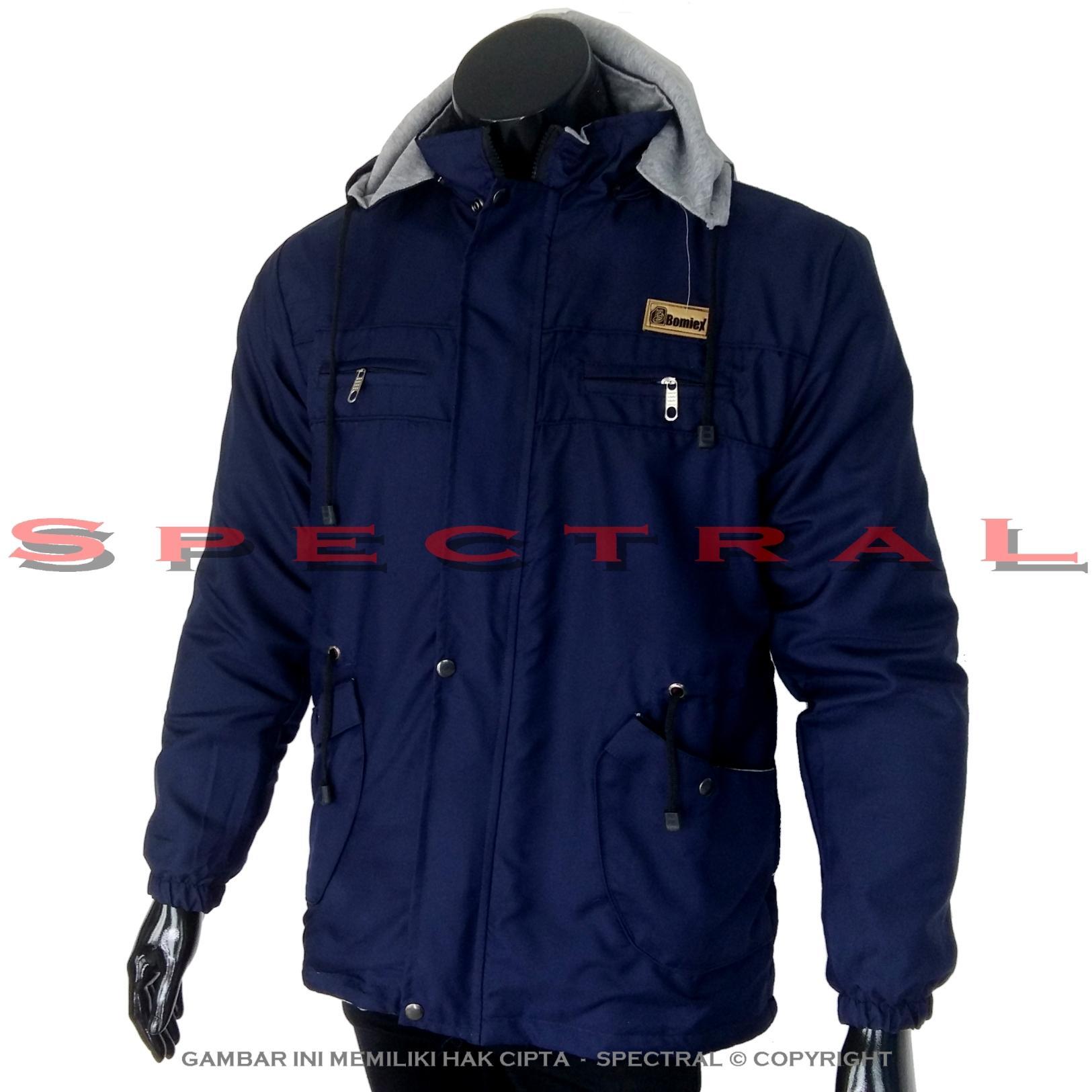 Spectral – Jaket PARKA Biru Navy Dongker Parasut Bolak Balik Jacket Sweater Hoodie Switer Jeans Parka Switer Bomber