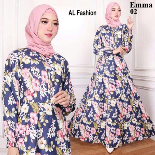 Gamis Wanita  - MAXI EMMA gamis perempuan syari busana muslim wanita pakaian murah