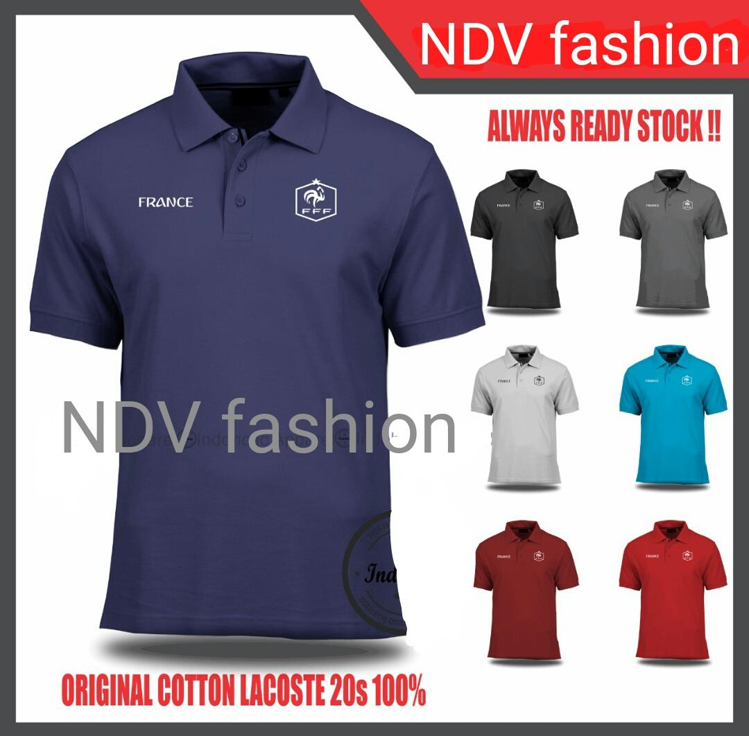 BAJU KAOS JERSEY PIALA DUNIA 2018 FRANCE / PERANCIS Lengan Pendek Original by NDV Fashion (BEST SELLER) Model Polo Baju Bola Kerah Jersi World Cup Official Team Terlaris