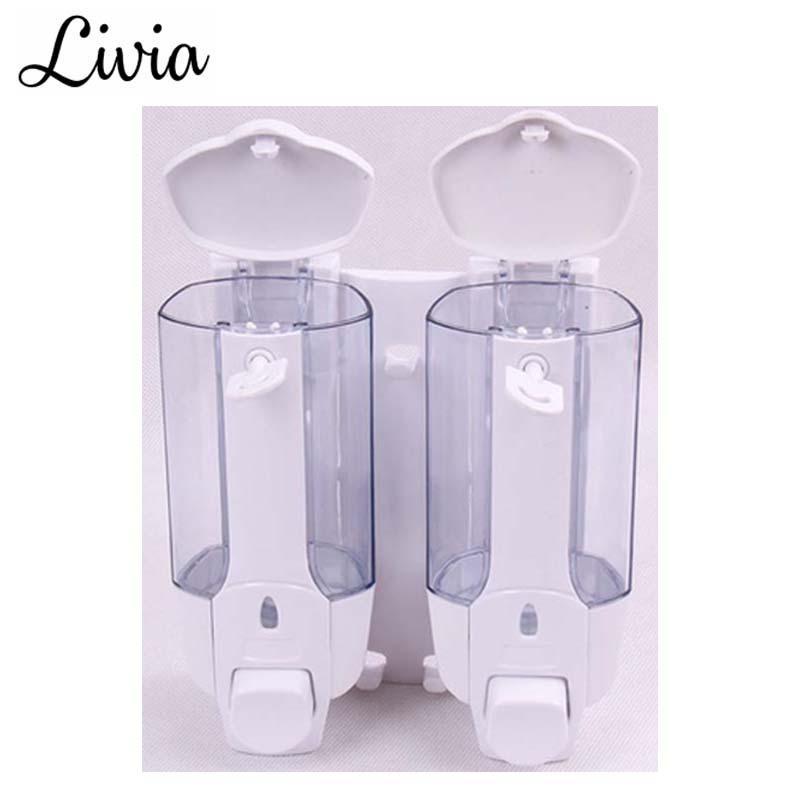 Livia Dispenser Sabun Cair 2 in 1 with Key Lock - Tempat Sabun Cair 2 in 1