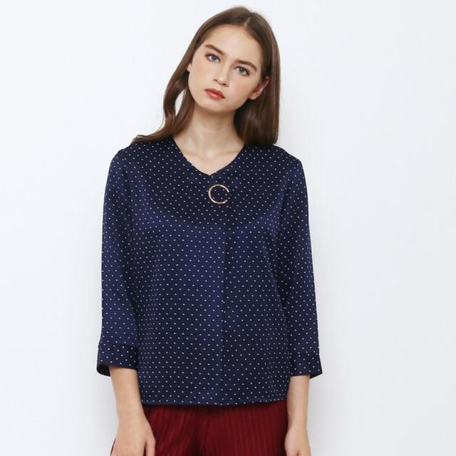 ... Remaja Termurah. Source · EKSTR Blouse fashion atasan Wanita 1807011SP polkadot bros C lengan panjang / Dress Pesta / Dress