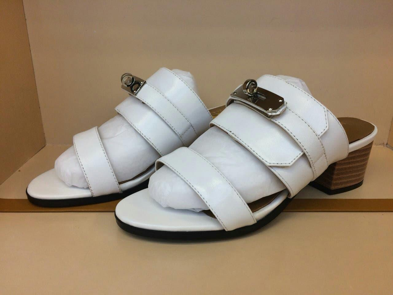 WEDGES HERMES WHITE MIRROR QUALITY