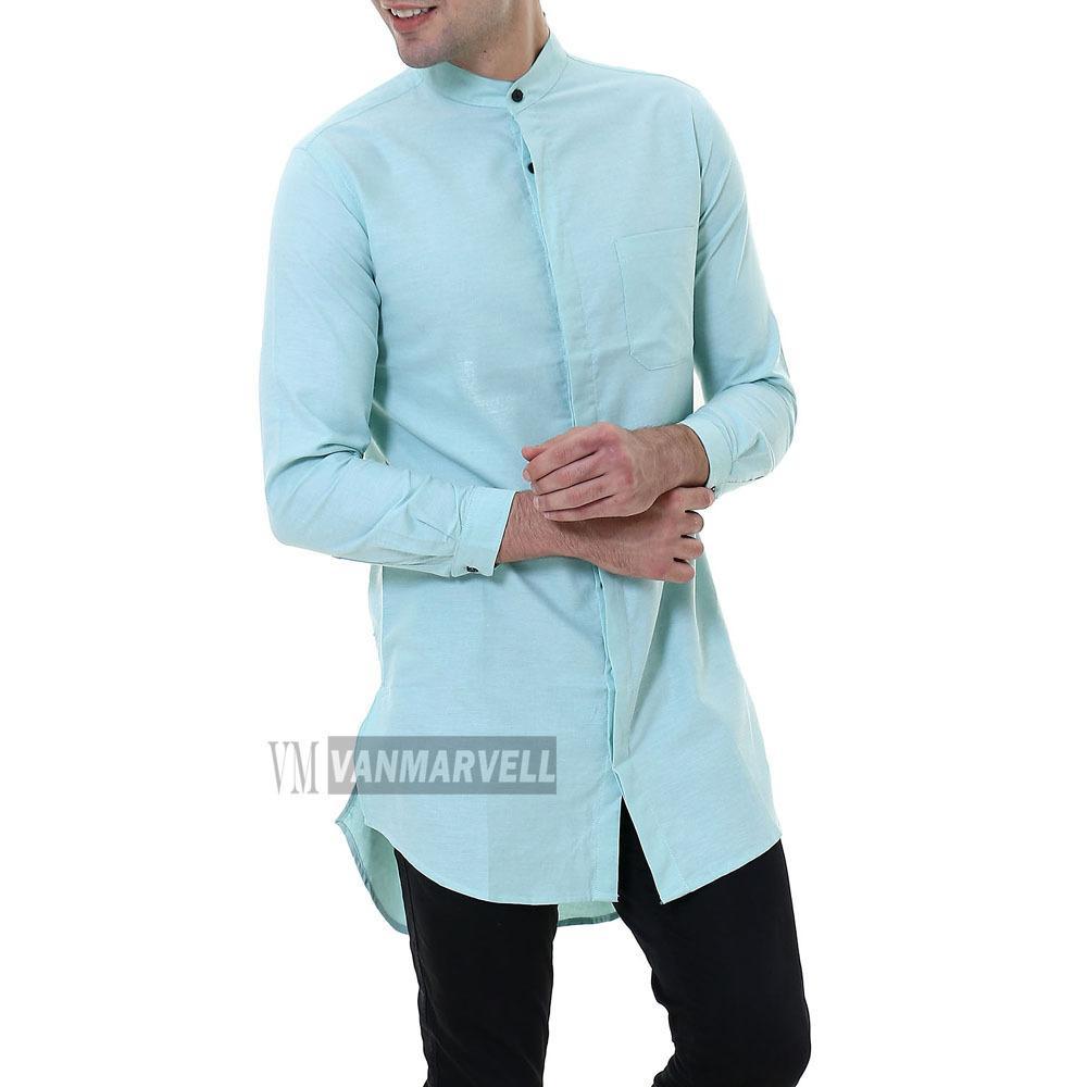 Kemeja Baju koko Muslim Gamis Pakistan Tangan Panjang Slim to Big Size Jumbo XXL