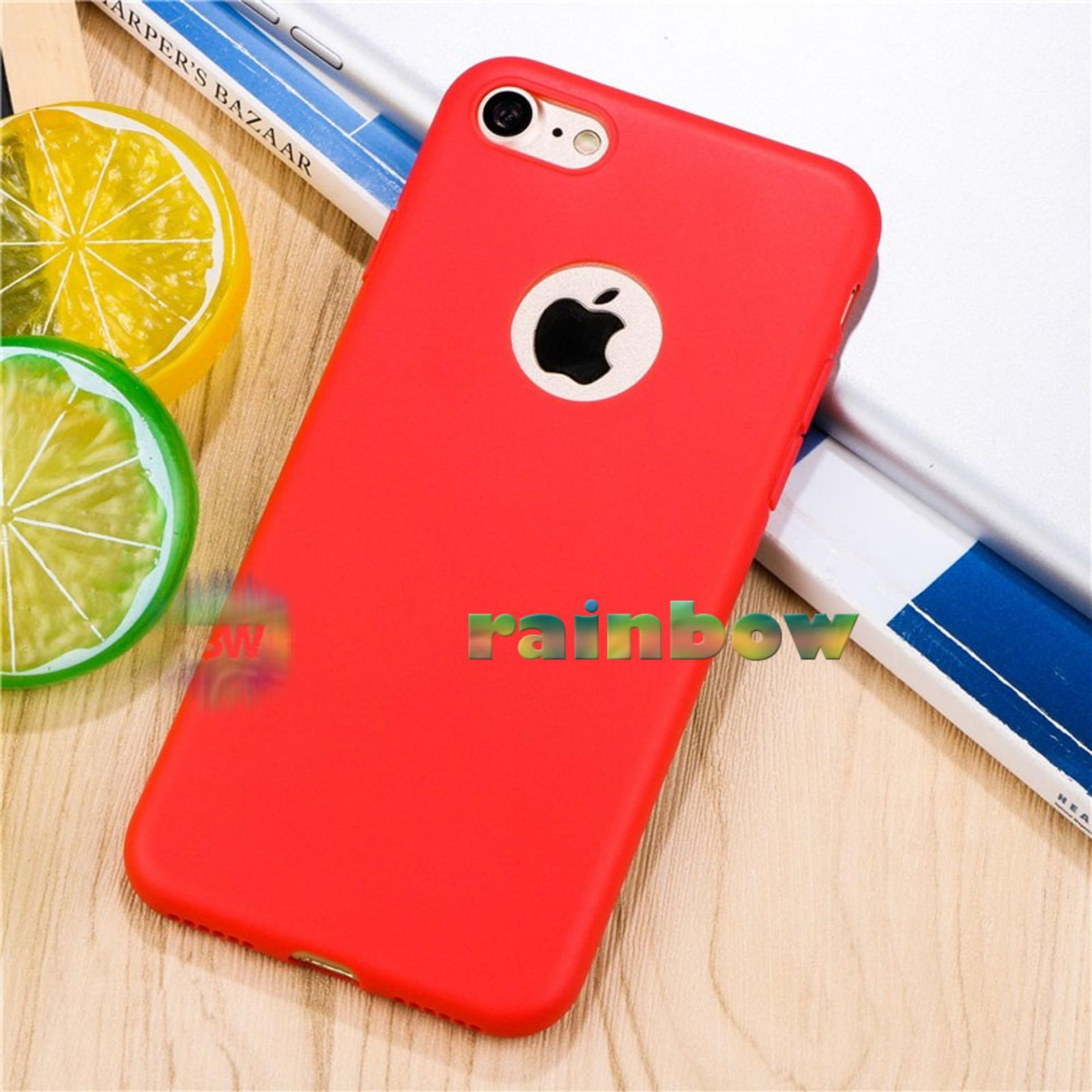 Lize Apple Iphone6 / Iphone 6 / Iphone 6G / Iphone 6S Ori Ukuran 4.7 inch / Softshell / Jelly Case / Soft Case / Soft Back Case / Silicone / Silicon / Silikon / Case Iphone / Case HP / Casing Handphone Iphone 6 - Merah