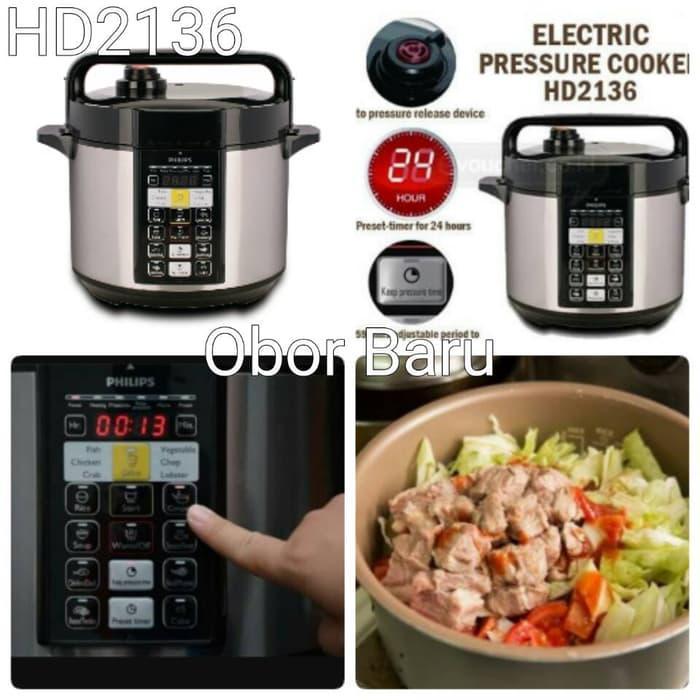 HOT PROMO!!! Electric Pressure Cooker Philips HD2136 - Alat Presto Digital - OOst5u