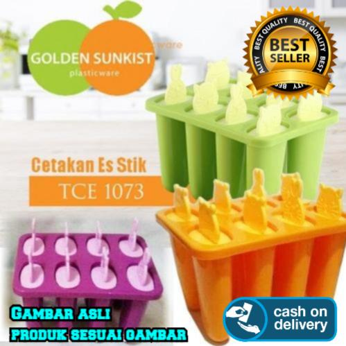 Cetakan Ice Cream, Cetakan Jelly, Cetakan Puding Golden Sunkist 1 Set isi 8 High