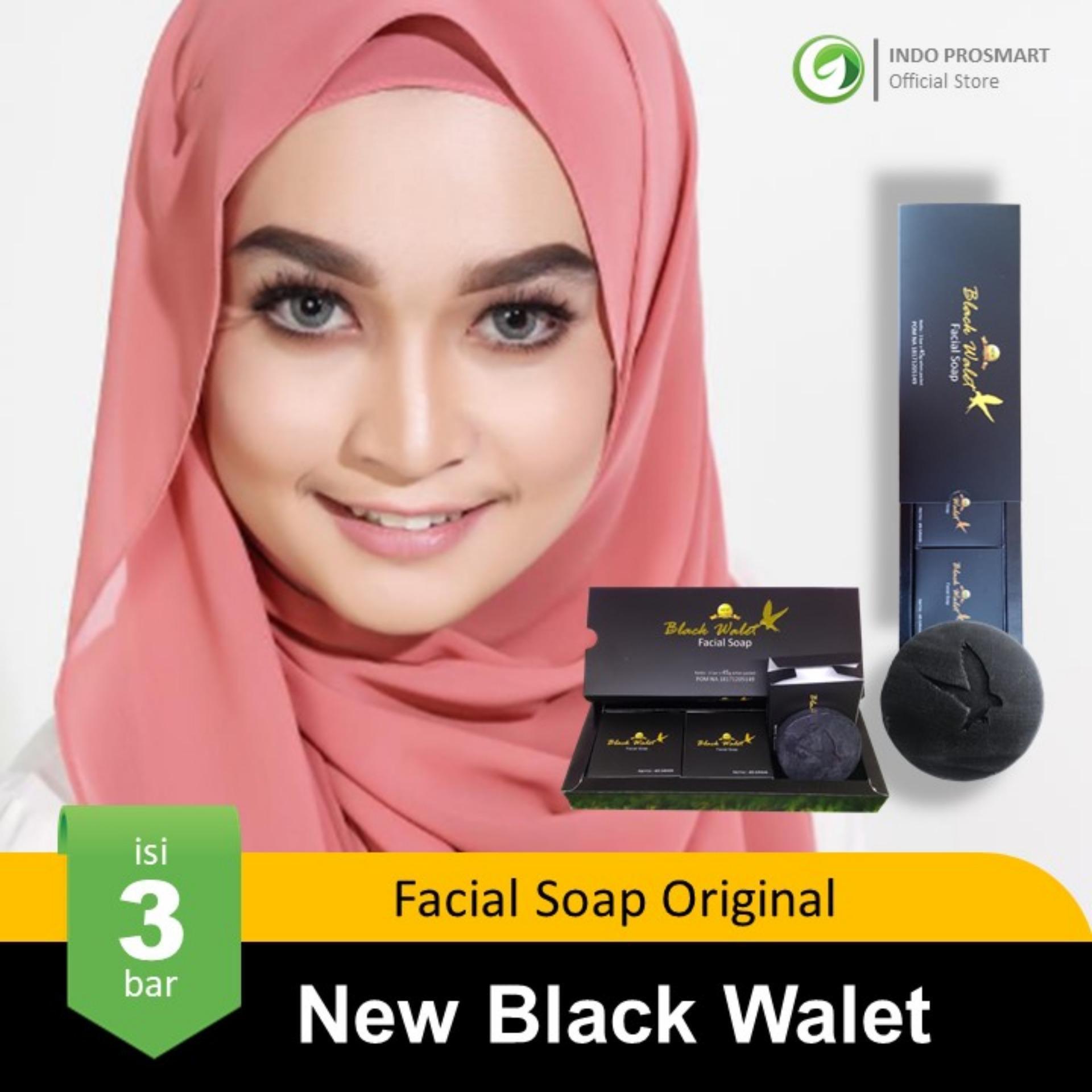 [1 Paket Isi 3 Bar] New Black Walet Facial Soap Original Sabun