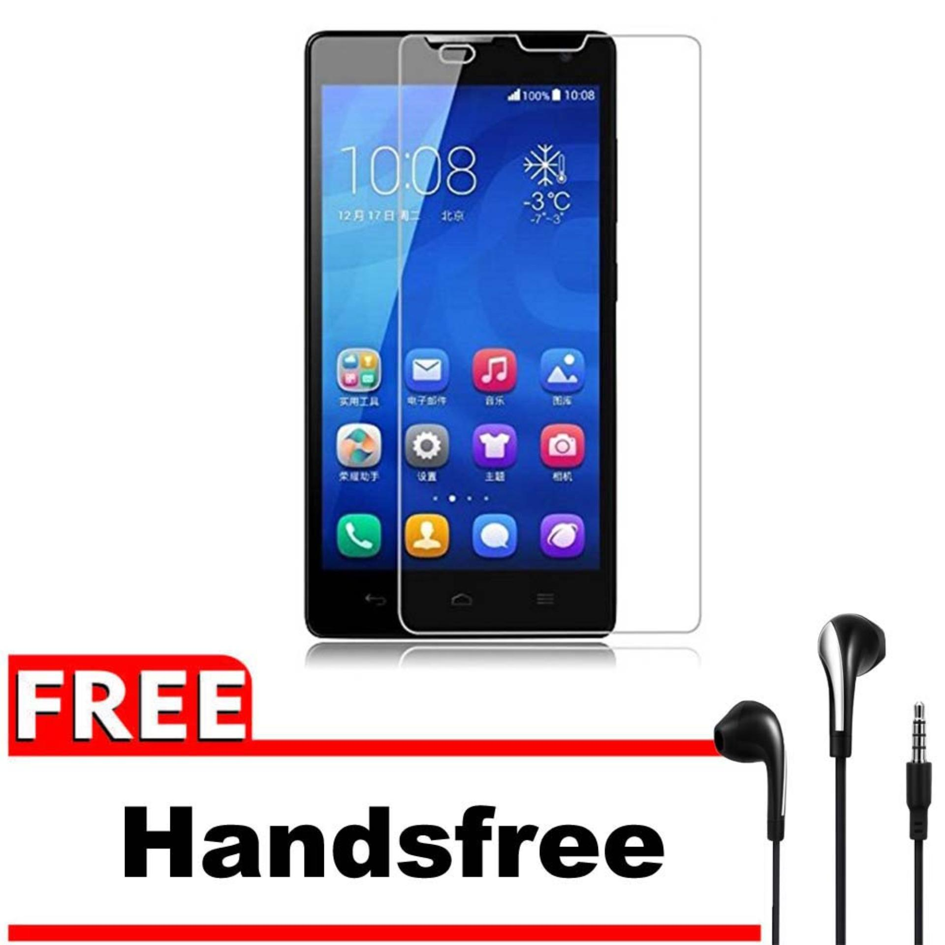 Rp 24.153. Vn Huawei Ascend Honor 3C / LTE / 4G Tempered Glass 9H Screen Protector 0.32mm + Gratis Free Handsfree Earphone Headset Universal - Bening ...