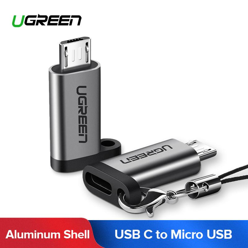 UGREEN USB C Female to Micro USB Male Cable Adapter For All of Handphone with Micro USB Interface Including  Xiaomi Redmi Note3/ Huawei P9 lite/Nova 2i  QC 2.0 Quick Charge Data Sync
