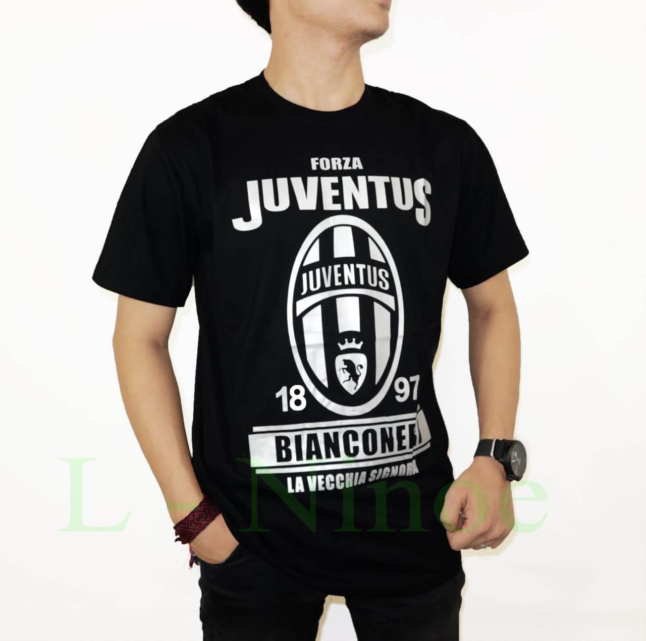 Buy Sell Cheapest Kaos Tshirt Juventus Best Quality Product Deals Baju Bola Juve New Logo 2017 L Ninoe Distro T Shirt Fashion 100 Soft Cotton Combed 30s Pria Gambar Baru Kartun Marvel Sablon