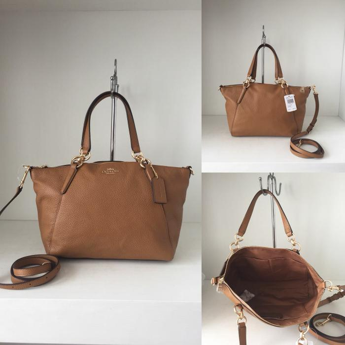 BEST SELLER!!! Ready coach f28993 small kelsey leather light saddle   28-36x22x8cm. - OA0mA8