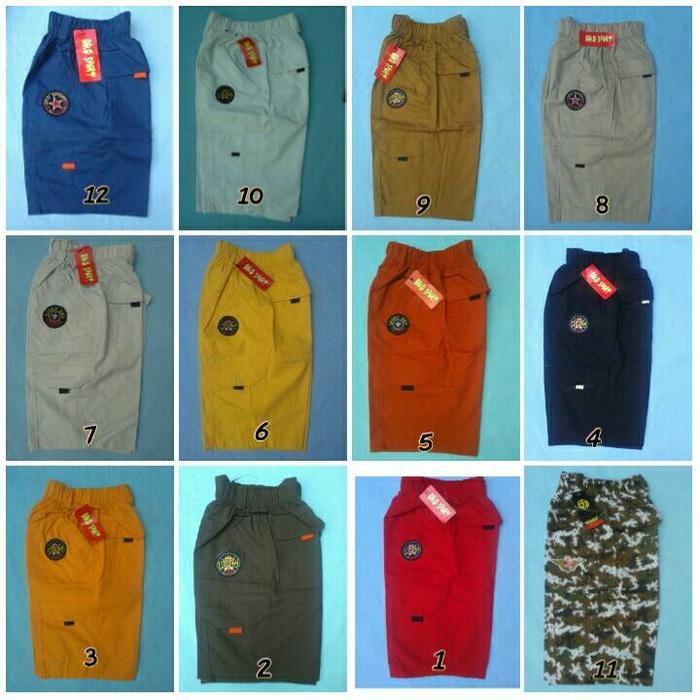 Arsees Store Celana Cargo Pendek Anak (Laki-laki/perempuan) 1- 4 Tahun