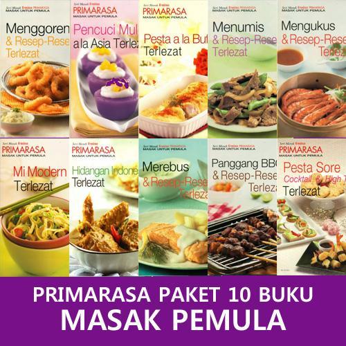Paket Super Hemat Primarasa 10 Buku Masak Untuk Pemula By Feminagroup.
