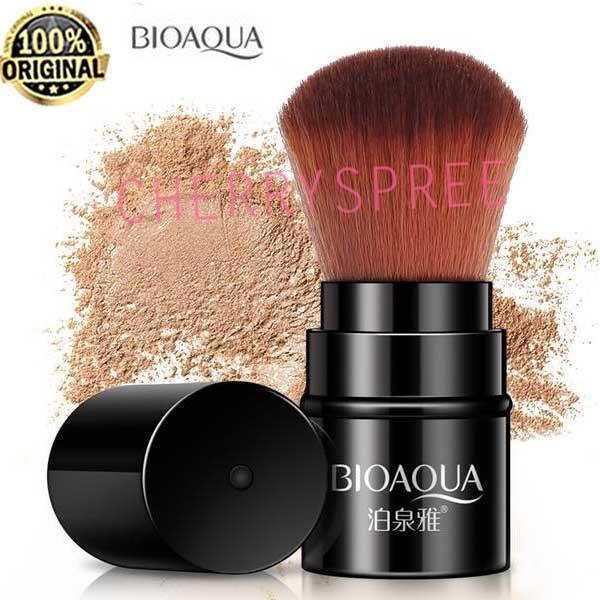 Bioaqua Retractable Kuas Make Up Model Tabung Makeup Brush Kuas Blush on Tabung Bedak Tabur Muka Wajah Kabuki - 1pc