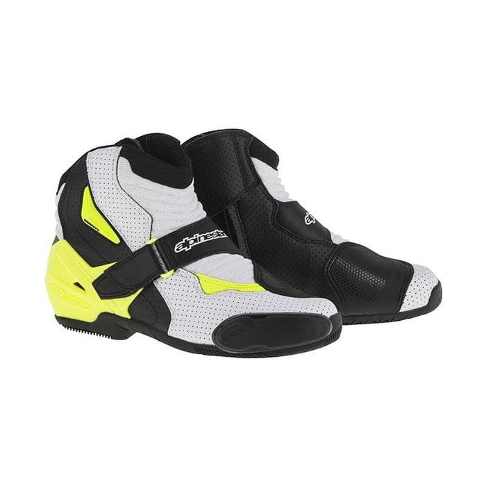 Alpinestars SMX-1 R Vented Sepatu Touring - Black Yellow Original