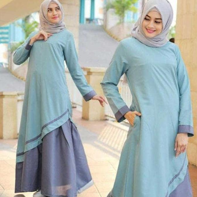 Diskon 35% Baju Atasan Muslim Murah /Gamis Murah Kaila Dres   Baju Lebaran Muslim Wanita Anak Pria