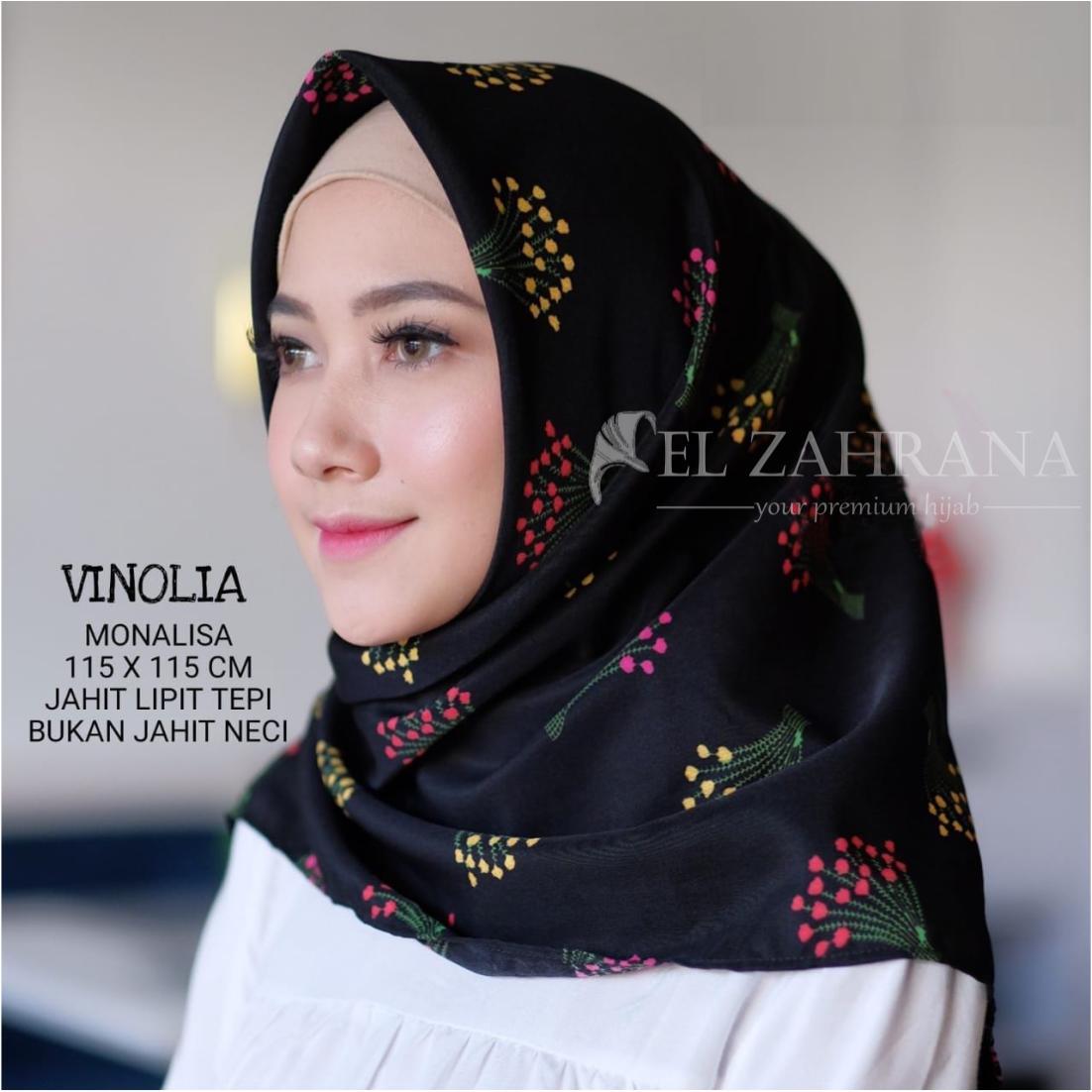 El Zahrana Kerudung Segi Empat - Hijab Segi Empat - Hijab Motif Premium – Hijab Fashion