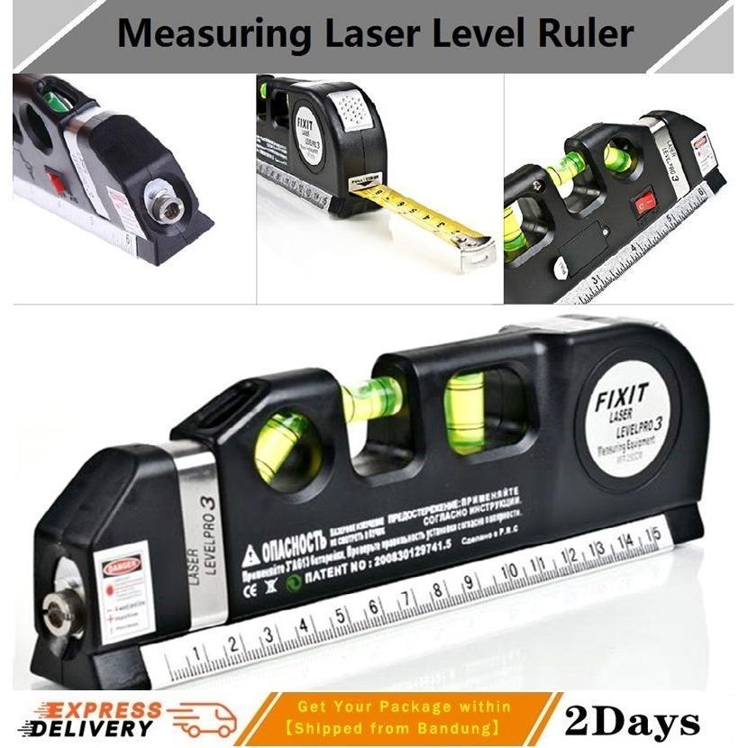 Meteran Serba Guna New Measuring Tape Terbaru Dengan Laser Penggaris Spirit Level Waterpass Horizontal Vertical Measure Plus Batere For Laser Teknologi Terkemuka