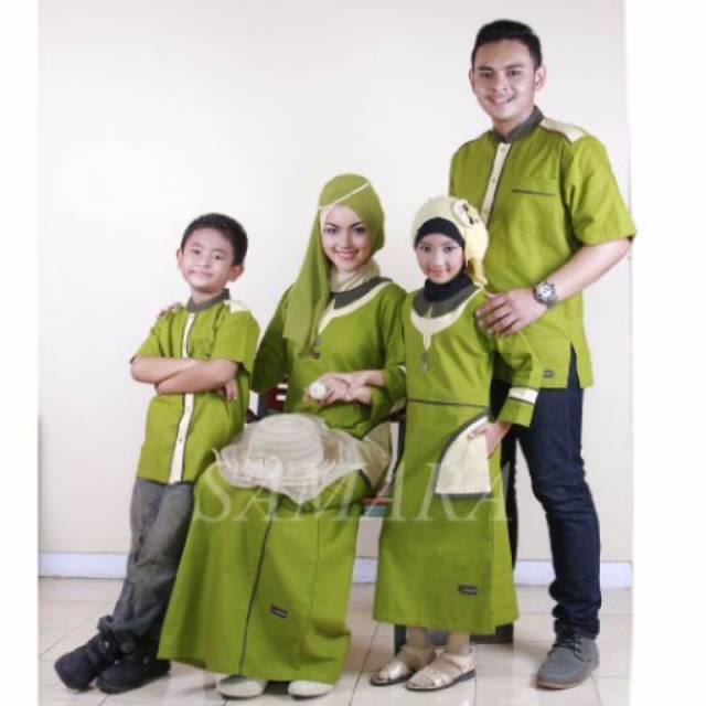 SR.B02 | Seragam keluarga sarimbit couple muslim baju gamis koko ayah ibu anak baru murah branded (Koko Anak No 8 & 10)