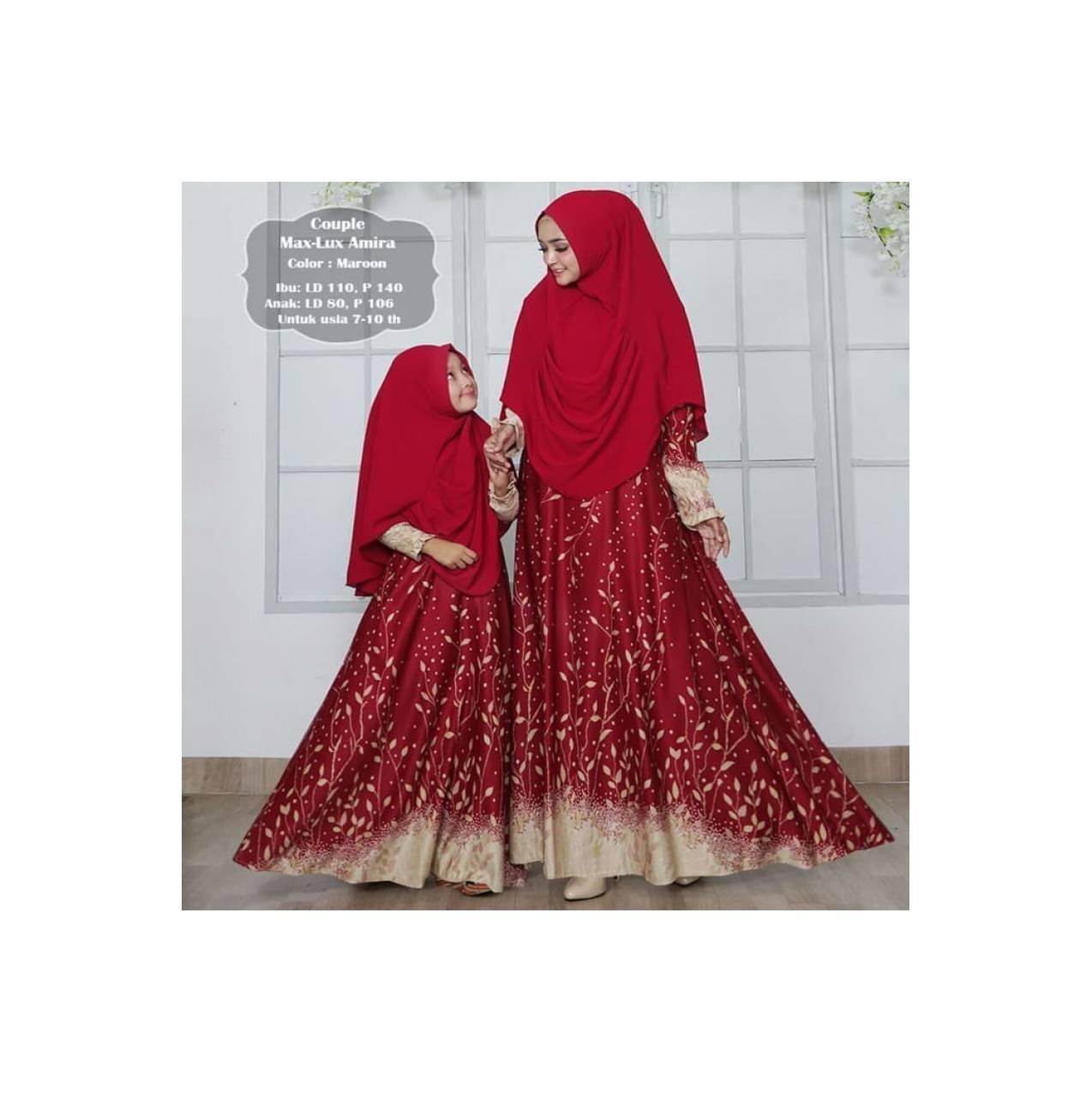 mk maxmara lux 2 - gamis couple ibu dan anak longdress muslim busui