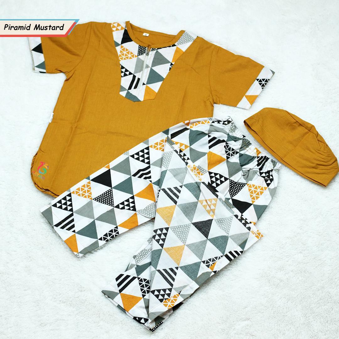 SARKOCI ANAK BABY PIRAMID MUSTARD SIZE 2-10 TAHUN MURAH MERIAH!!