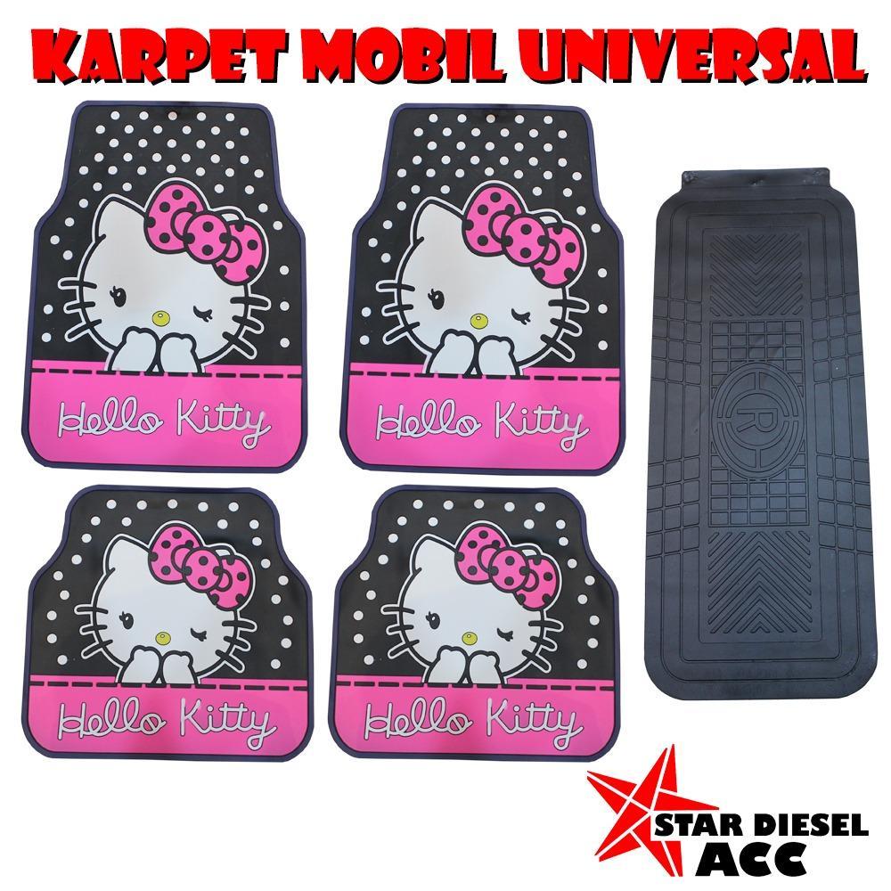 Karpet Mobil Lantai Universal 5PC HELLO KITTY Pink