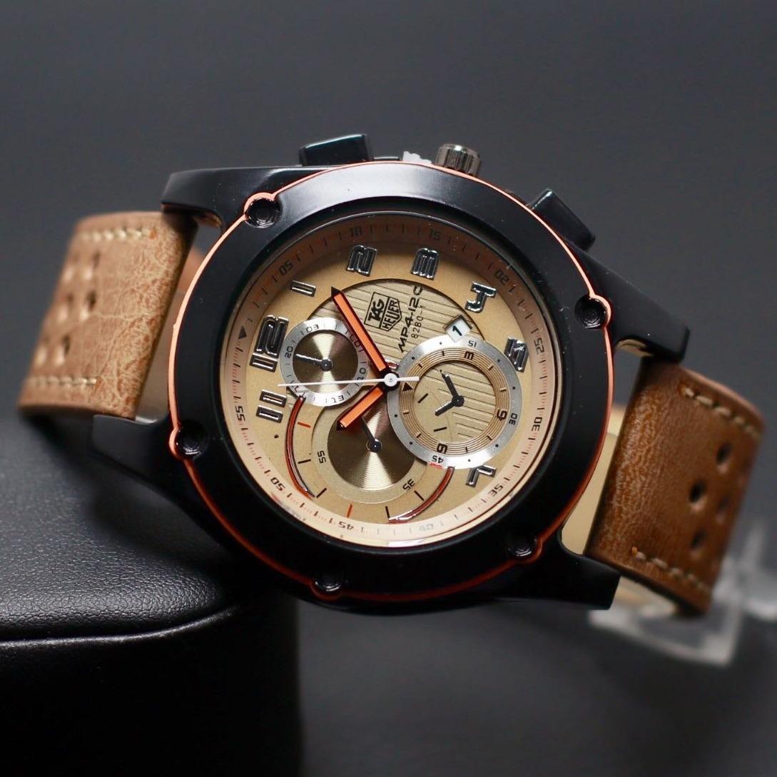 jam tangan pria casual dan fashion Tag - Heuer carrera - Tali kulit