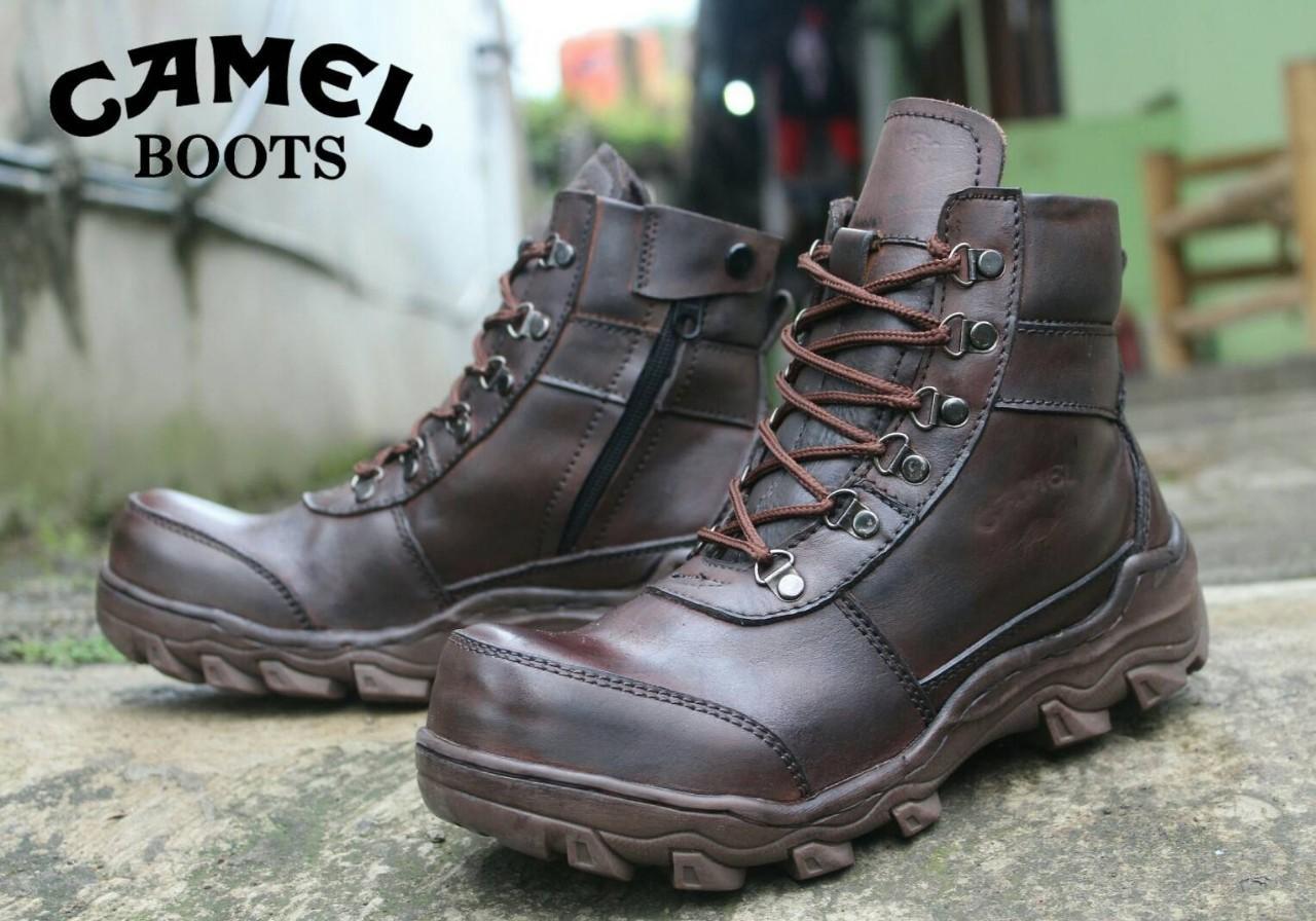 Buy Sell Cheapest Kekinian Sepatu Safety Best Quality Product Pendek Model Slop Bahan Kulit Asli Pria Boots 39 44 Tali