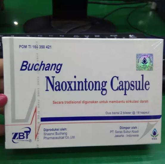 Buchang Naoxintong Capsule (angkung angong ) 72 Kapsul - Obat pelancar darah, untuk stroke dan lumpuh sebelah wajah