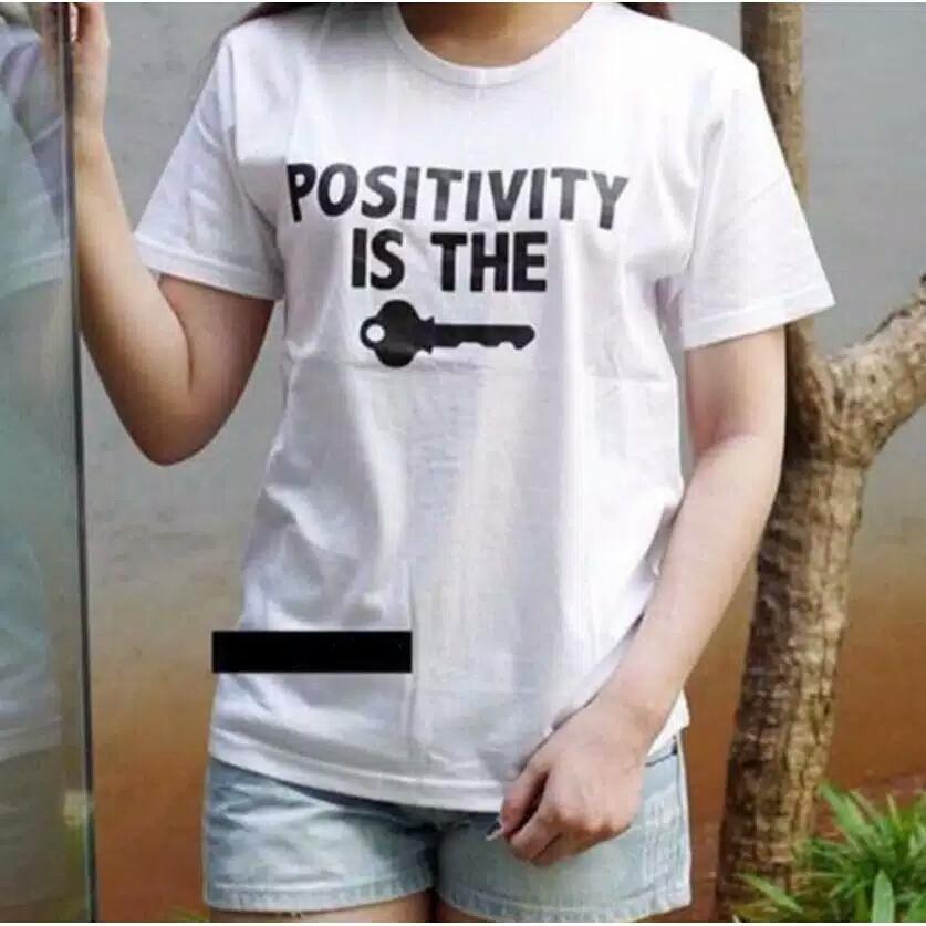 ... Oblong / Kaos Tulisan, Rp 21.000, DKI Jakarta. Vanessa Tumblr Tee / T- Shirt POSITIVITY IS THE KEY / T-shirt Wanita