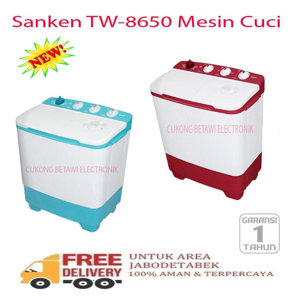 Sanken TW-8650BU Mesin Cuci [2 Tabung/ 7 Kg]-KHUSUS JABODETABEK
