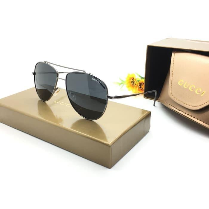 PALING LARIS kacamata hitam gucci wanita dan pria 8101 lensa polarized 59-12-135
