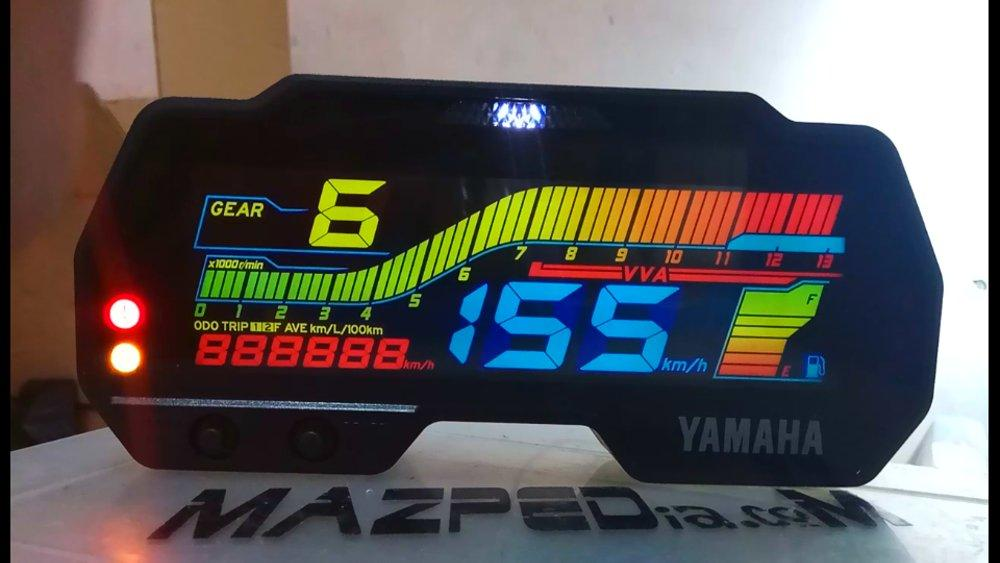 Stiker Speedometer Yamaha R15V3 VVA Modifikasi Pelangi Warna Warni