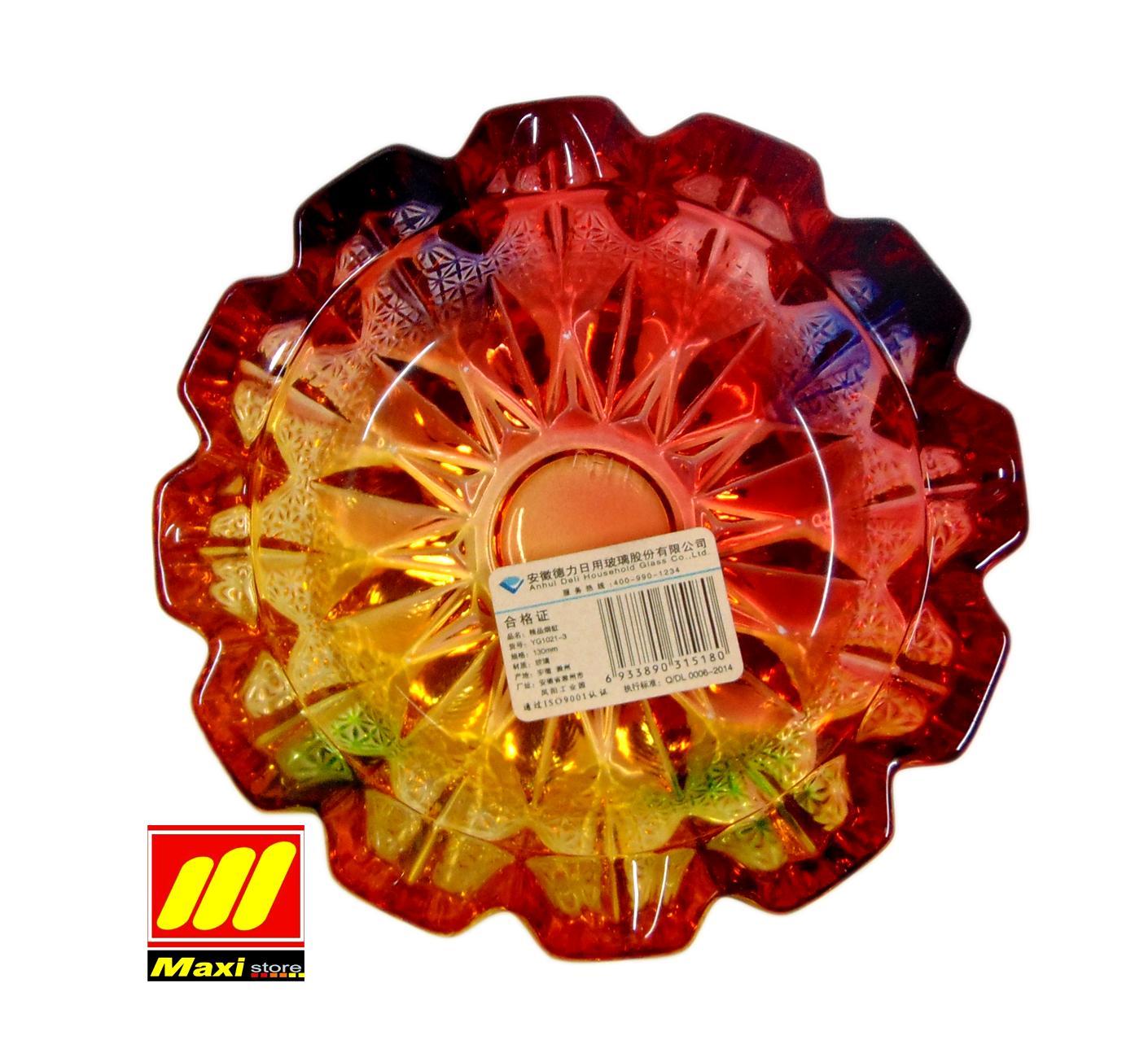 asbak bulat kecil / Asbak kaca warna/ asbak rokok/asbak motif - Maxistore
