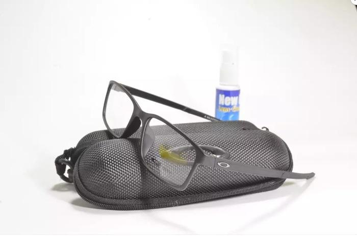 DISKON Kacamata Minus Oke MILESTONE Ox8036 (Frame+Lensa) Hitam TERMURAH