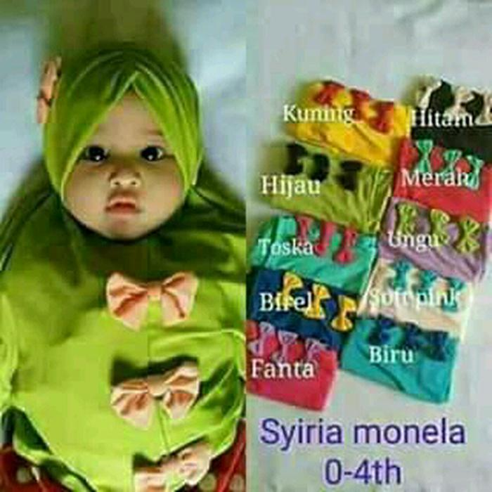Jilbab Anak Kerut Poni Pita