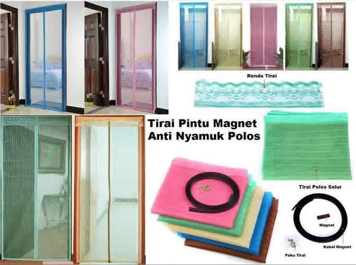 Tirai Magnet Anti Nyamuk ( Velcro ) - Tirai buat anti nyamuk - Tirai magnet multi fungsi - best seller