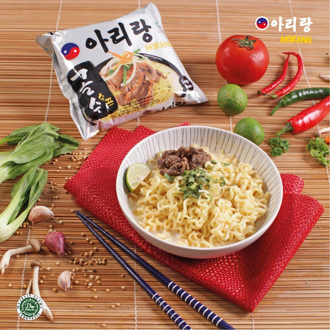 Mie Korea Kuah Arirang Samyang Korean Soup Noodle Sum Sum Marrow Kaldu Sapi Halal