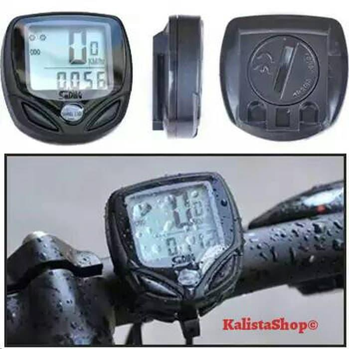 HARGA SPESIAL!!! Waterproof Wireless Bicycle Speedometer Odometer 14 Function Black LCD - OWH5ib