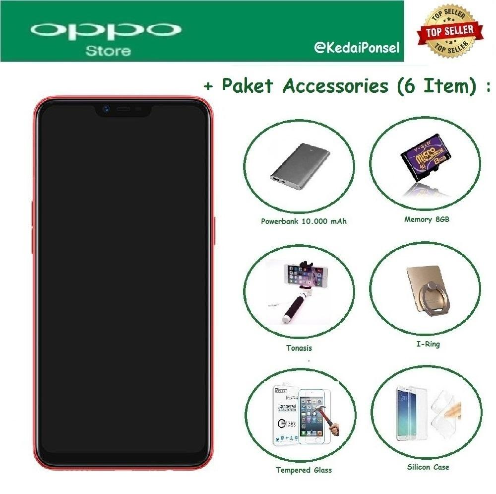 OPPO A3S [2/16GB] + Free 6 Item Accessories
