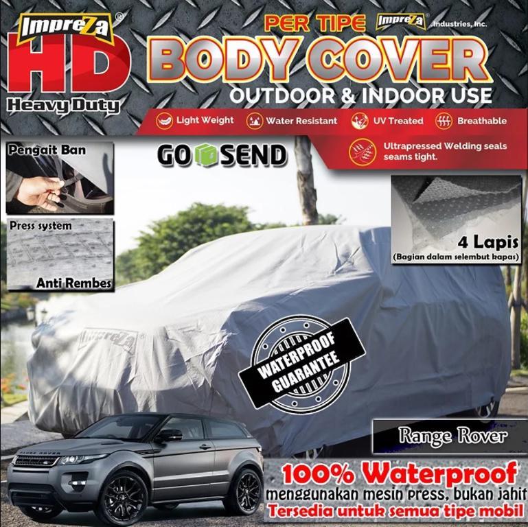 Body Cover Waterproof Range Rover Evoque - 4 Lapis - Direkomendasikan untuk OUTDOOR