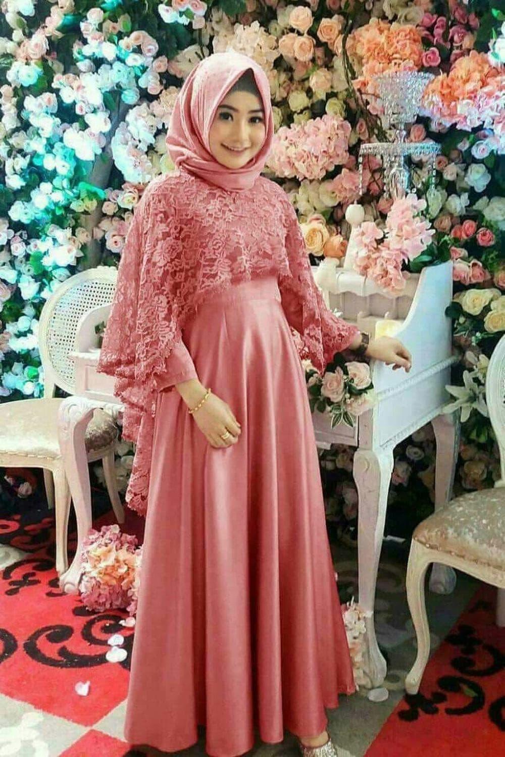 Baju Muslim Wanita Maxi Thiara Peach Berkualitas