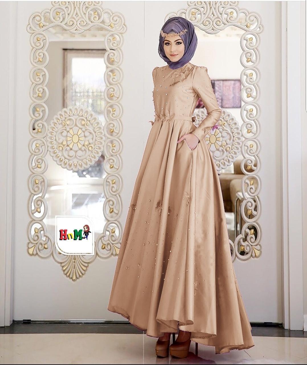 Gamis Hijab Muslimah Satin Roberto BUTTERFLY_RDDK_Shop_nov_