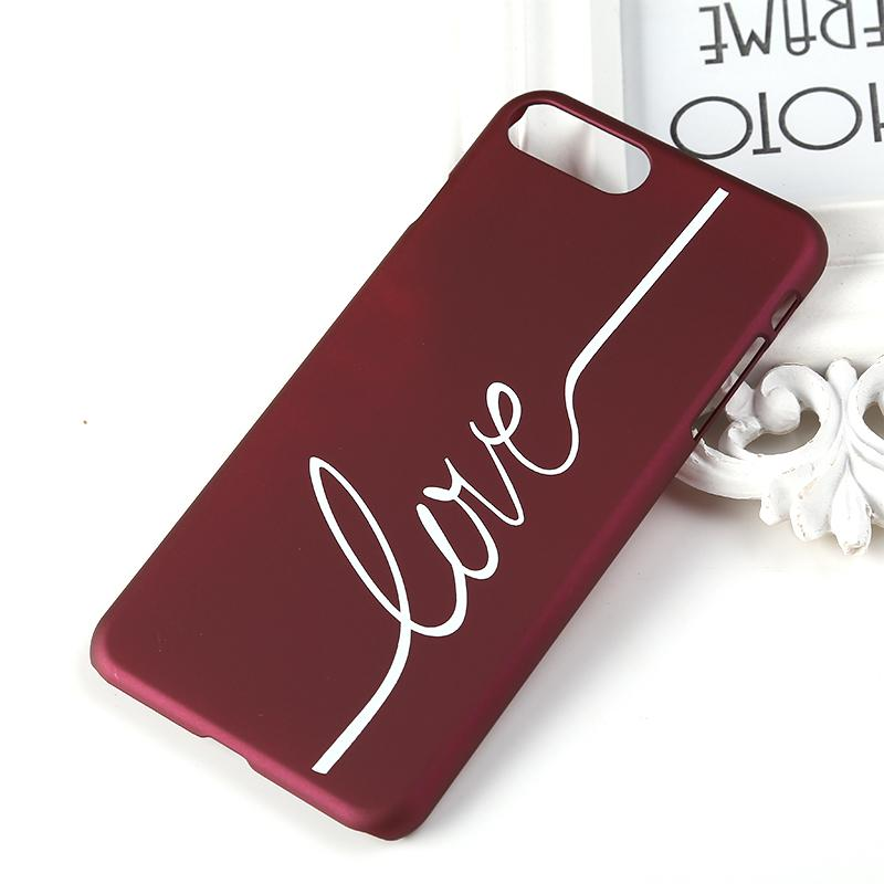 Zada More Letter Love Printed Phone Case Cover Plastic Soft Protective Cases Cell Phones