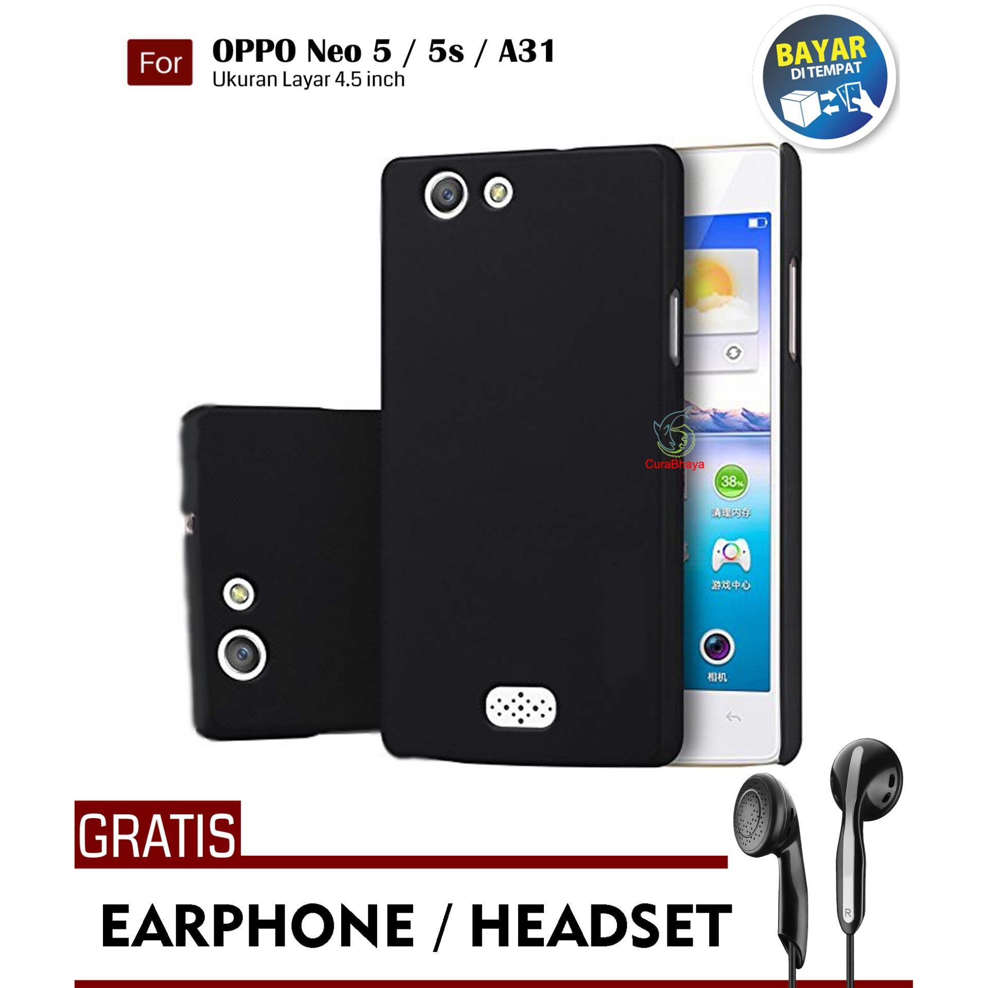 MidNight Oppo Neo 5 / 5s / A31 / A31T / A31S| Slim Case Black Matte Softcase Premium Baby Skin + Gratis Free Earphone Headset Handsfree