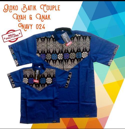 Baju Koko Anak Ayah Couple Best Seller - Navy 024