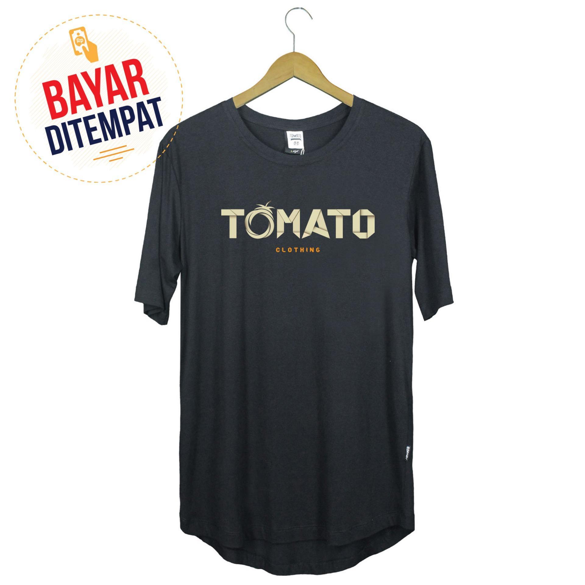 Tomato Clothing Longline Tshirt Kaos Distro Original [Hitam] - Origami