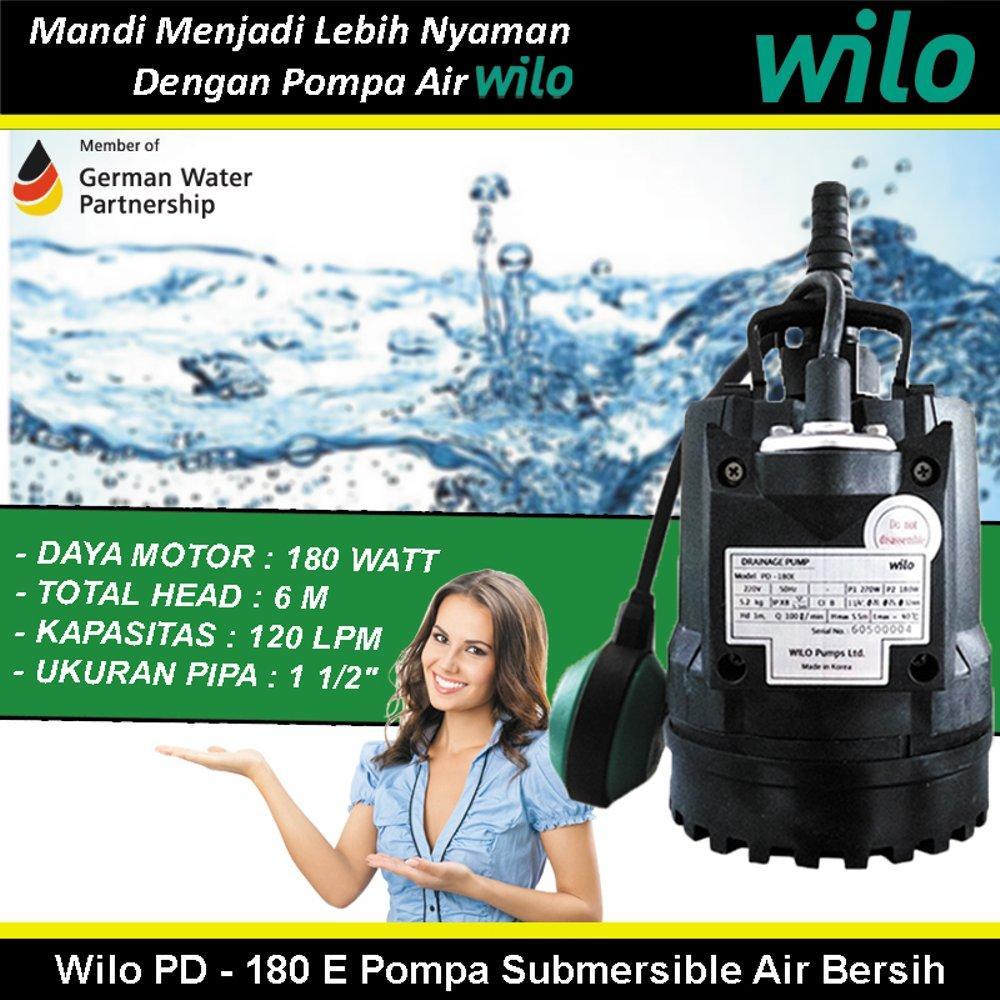 Buy Sell Cheapest Wilo Pompa Air Best Quality Product Deals Pc 300 Merk No1 Germany Jet Sumur Dalam Tahan Banting Water Pump Pd 180 Ea Submersible Bersih
