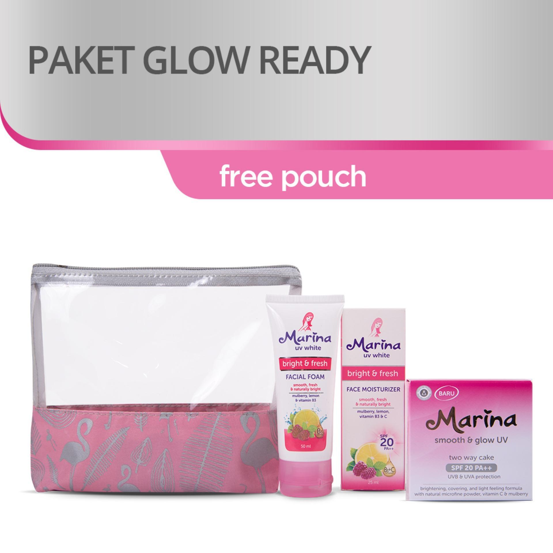 Marina Glow Ready Kit Paket Perawatan Wajah Ivory
