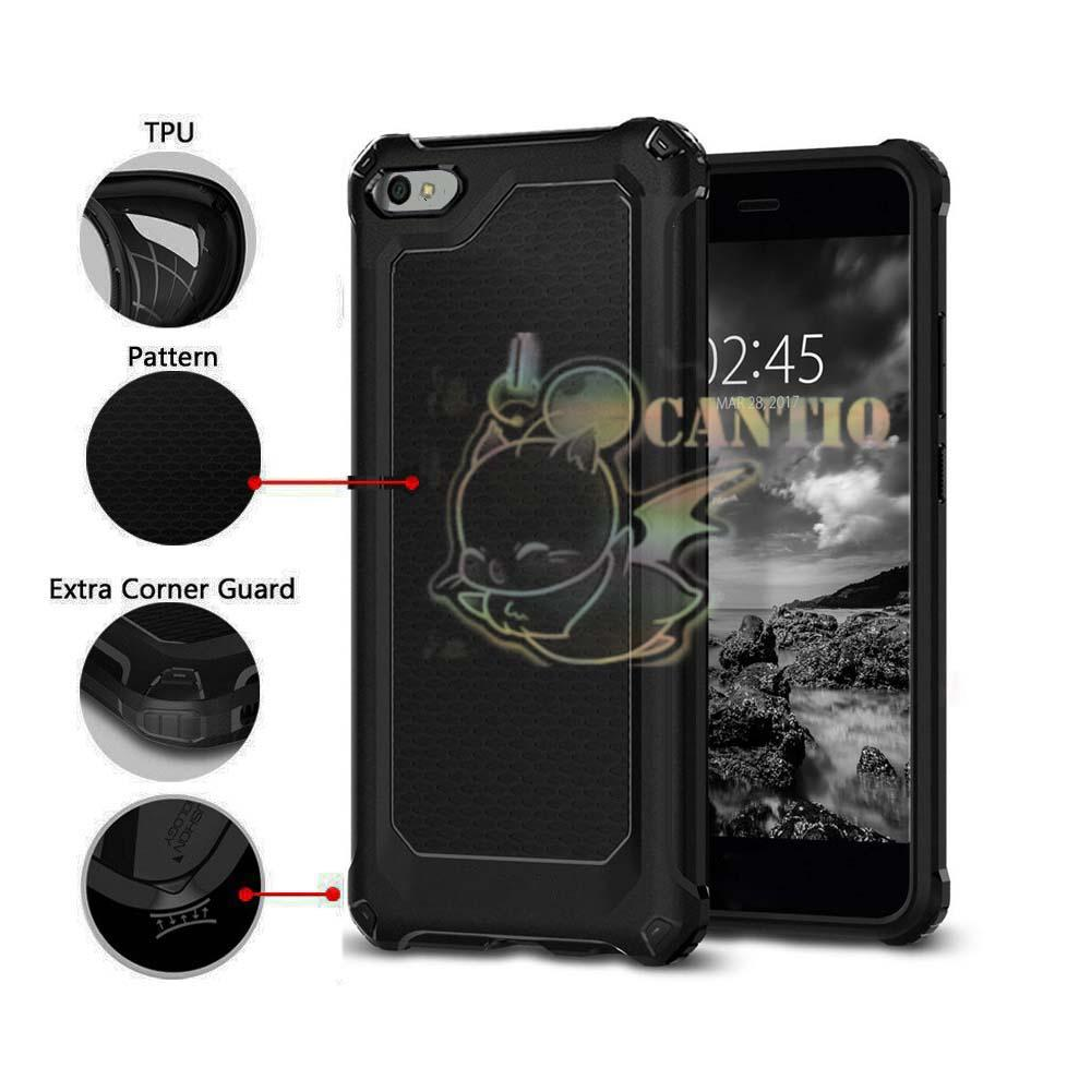QCF Case Rugged Ultra Capsule Oppo A83 Hybrid Armor TPU Shockproof Soft Back Case / Softcase Anti Slip / Casing Oppo A83 / Case Capsule Oppo A83 / Case Oppo A83 / Casing HP / Silikon Shockproof - Hitam
